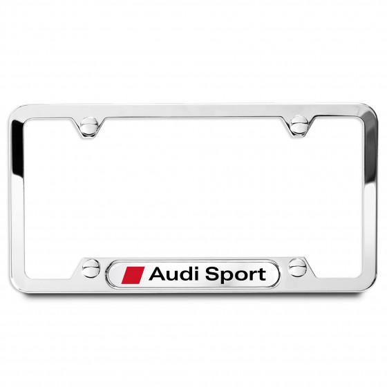 License Plate Frame (Audi Sport, Polished) - ZAW355030