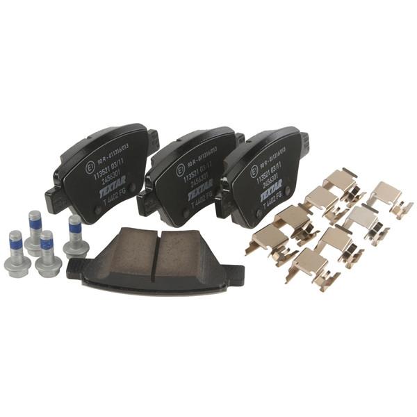 VW Passat 01-05 1.9 TDi EST 128 Drivetec Rear Brake Pads Discs 245mm Solid