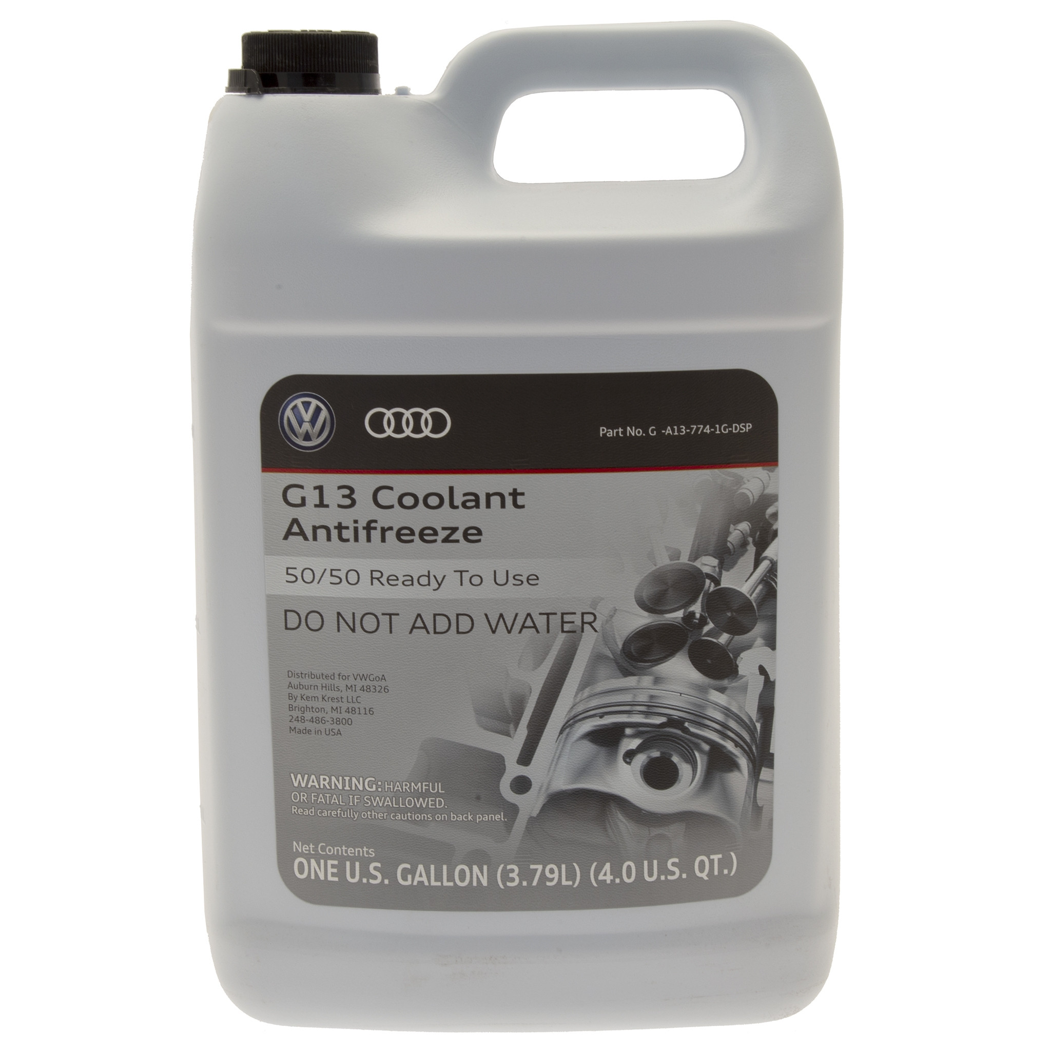 Audi, VW Genuine G13 Engine Coolant (Latest Formula, 1 Gallon) GA137741GDSP  by Genuine OEM | Audi Engine Coolant |  | Europa Parts