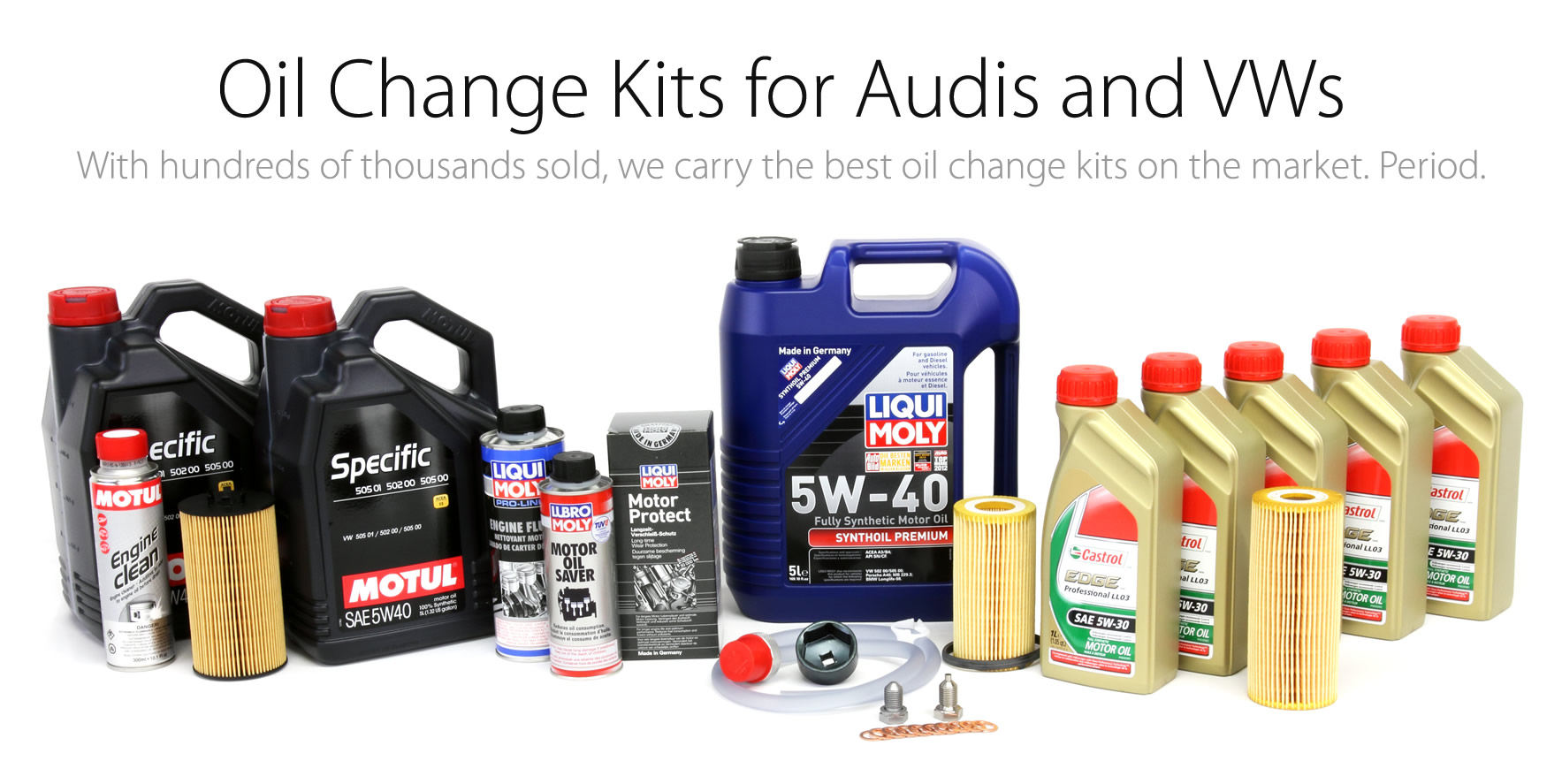 Oil Change Kits for Audis and VWs