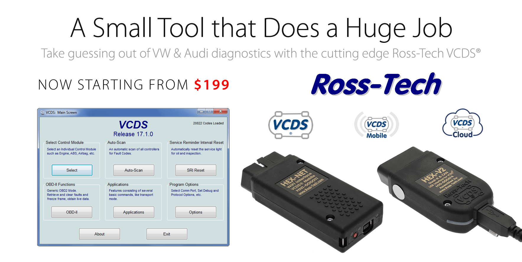 Ross-Tech VCDS (VAG-COM Diagnostic System) for Audi, Volkswagen